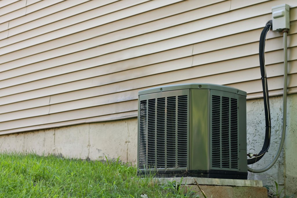 central ac unit outdoor